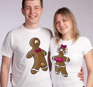 Парные футболки для влюбленных Печеньки sexy