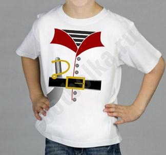 Футболка детская halloween Костюм пирата белая