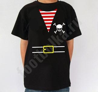 Футболка детская halloween Костюм пирата черная