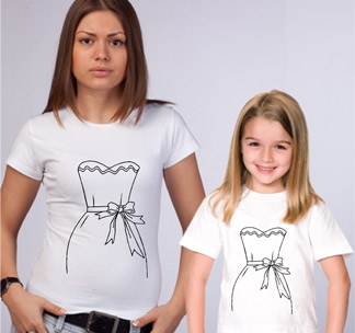 Футболки для мамы и дочки Платье