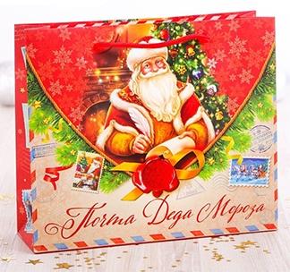 Пакет подарочный Почта Деда Мороза