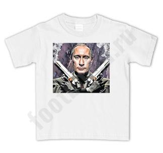 Футболка детская Путин с пистолетами