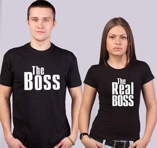 Парные футболки The Boss The Real Boss