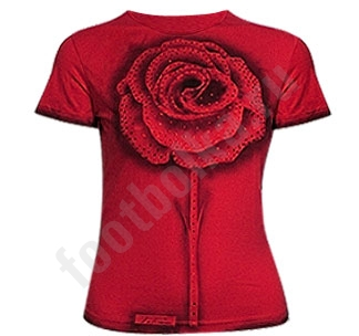 "футболка авторская  ""красная роза "" Footbolka.ru."