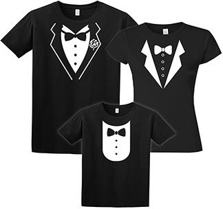 Семейные футболки Фрак черные