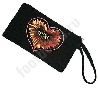 Дизайнерский кошелек Сердце цветка