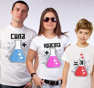 Семейные футболки Сила красота я