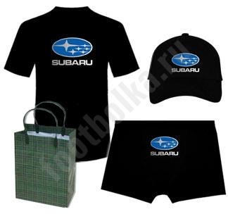 Набор с автомобильным логотипом Субару на заказ