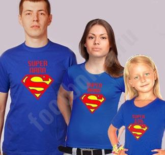 Семейные футболки Супер папа  Супер мама  супер дочь