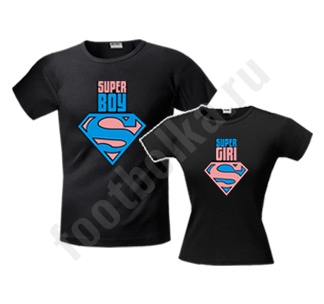 Футболки парные Super boySuper girl