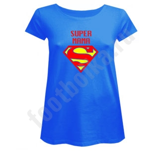 Футболка для беременных Супер мама супермен