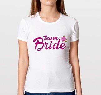 Футболка Team Bride цветочная коллекция