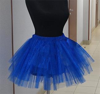 Юбка пачка для девичника синяя