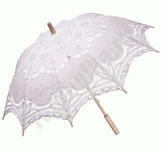 Свадебный зонт Кружевной артZ23021
