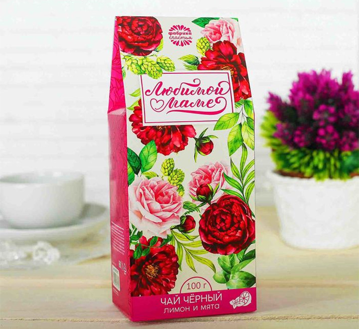 Чай подарочный «Любимой маме» большая пачка