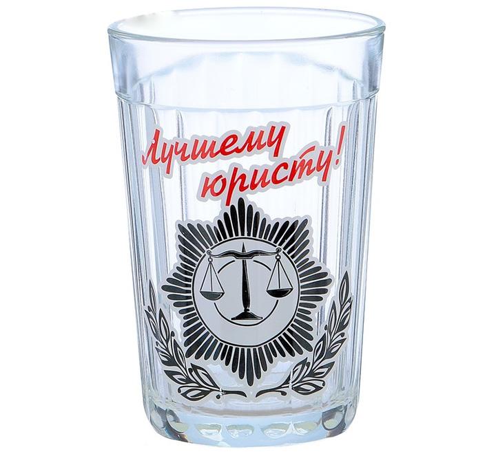 """Стакан граненый """"Лучшему юристу"""""""