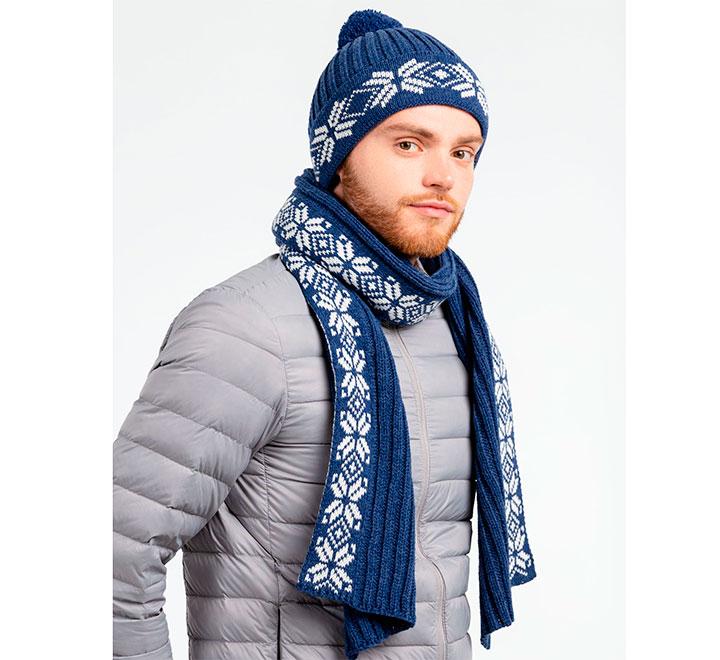 """Набор унисекс """"Скандинавия"""" шарф и шапка"""