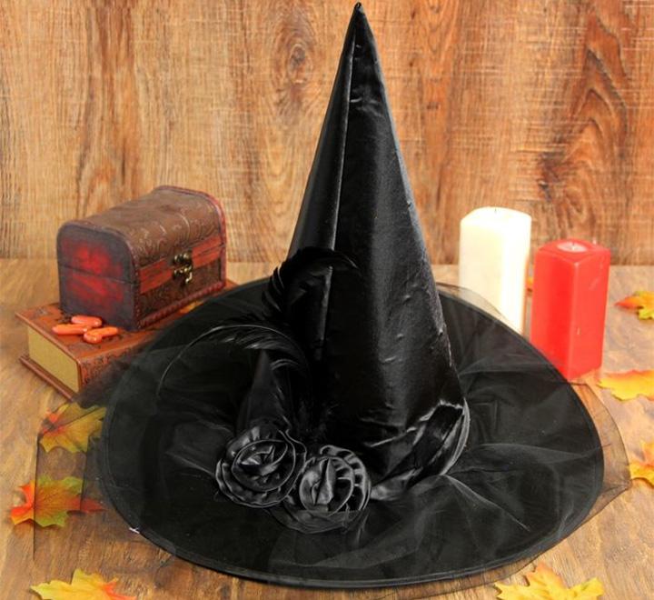 Карнавальная шляпа «Ведьмочка» с вуалью
