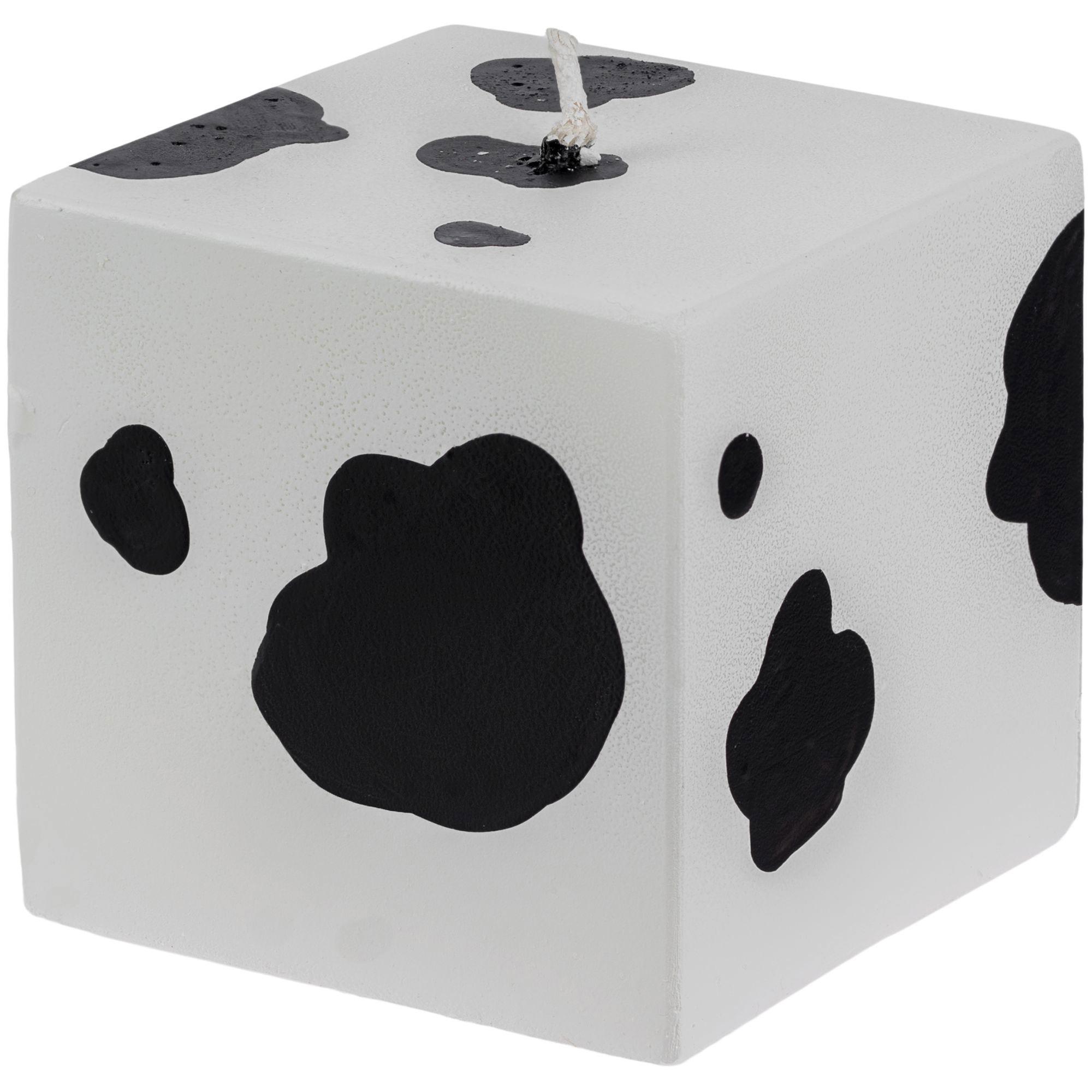 Свеча Spotted Cow, куб арт 12204