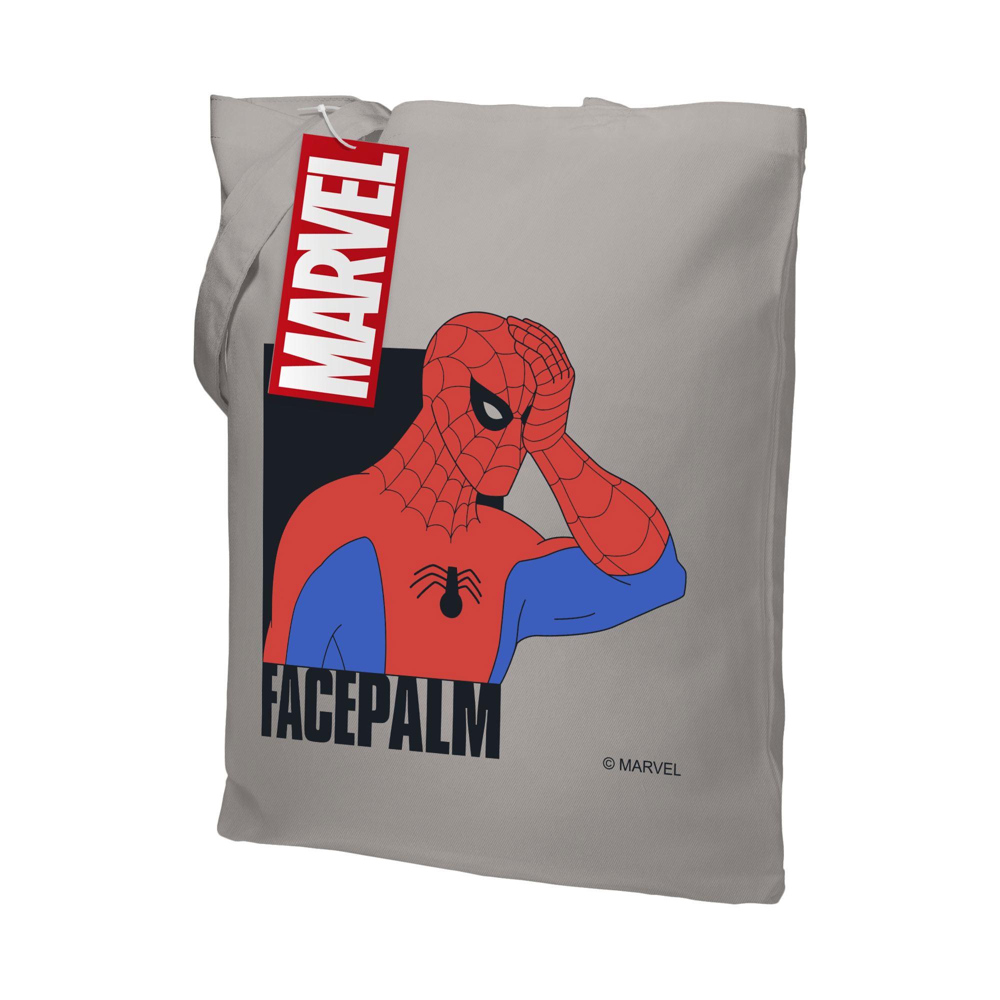 Холщовая сумка Facepalm, серая ари 55521.30