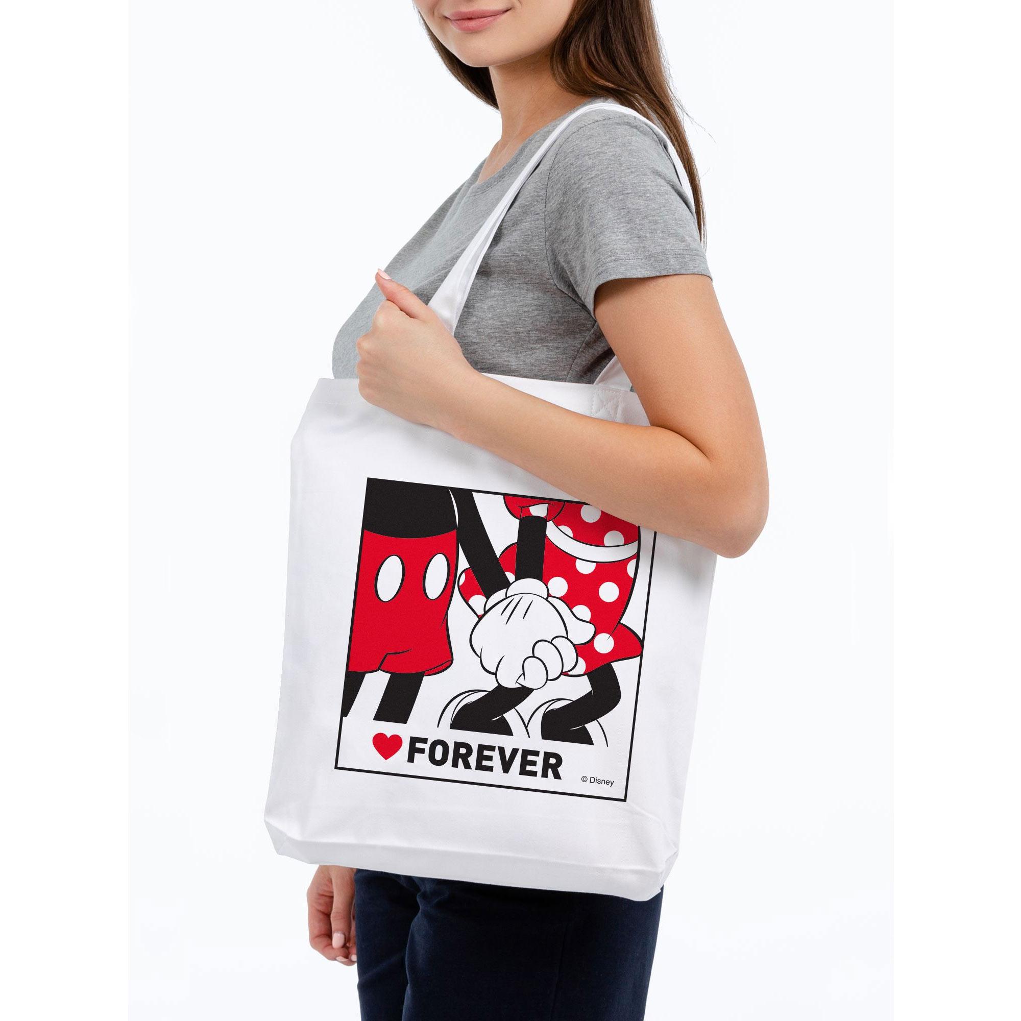 Холщовая сумка «Микки и Минни. Love Forever» арт 55507