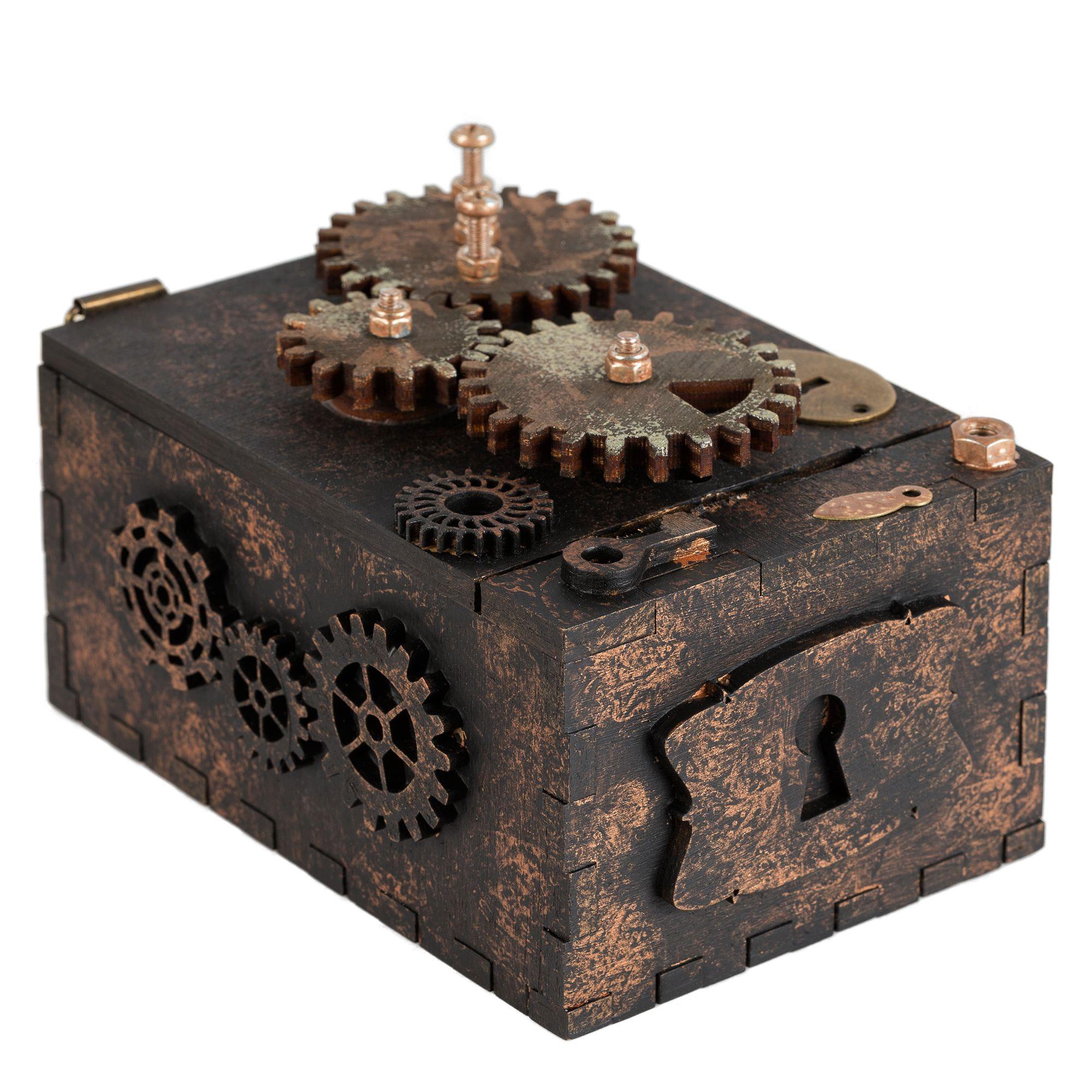 Шкатулка с секретом Gearbox, малая арт 7100