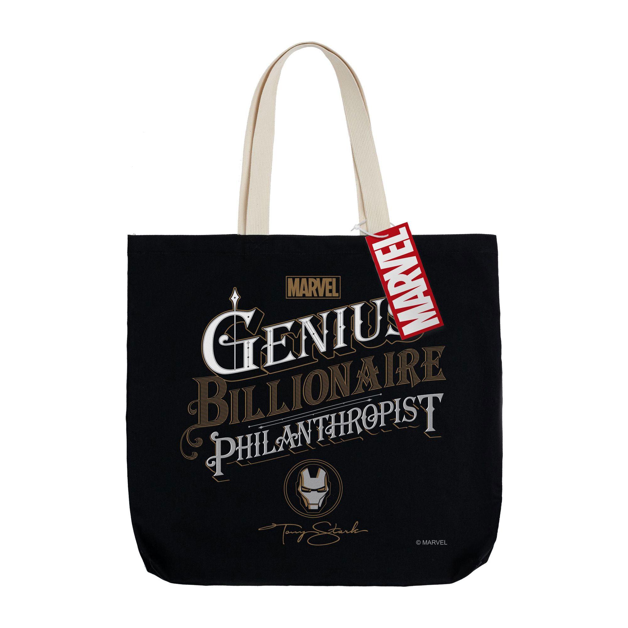 Холщовая сумка Tony Stark Genius, черная арт 55594.30