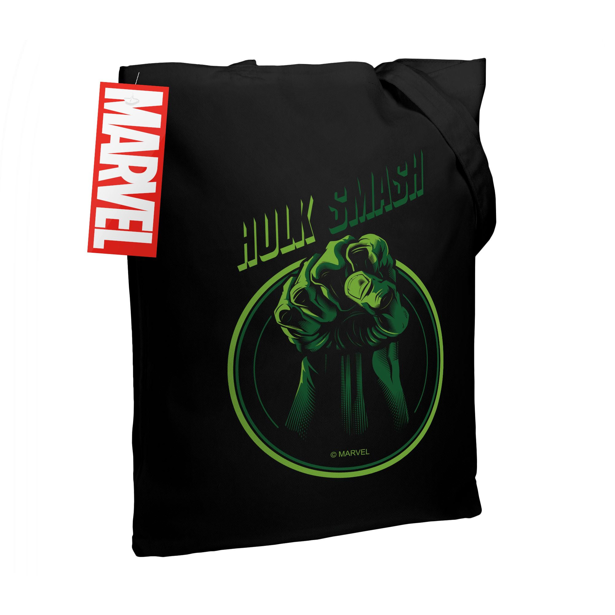 Холщовая сумка Hulk Smash, черная арт 55517.30