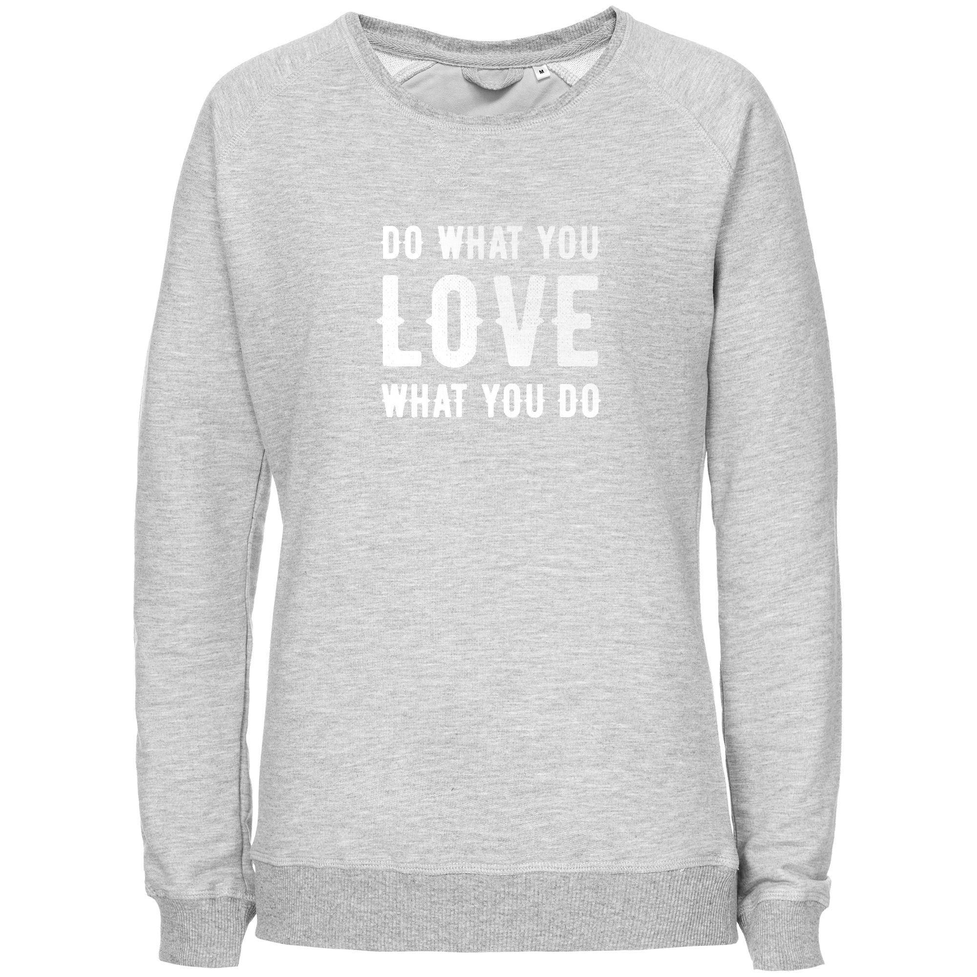 Свитшот женский Do Love, серый меланж арт 70533.11