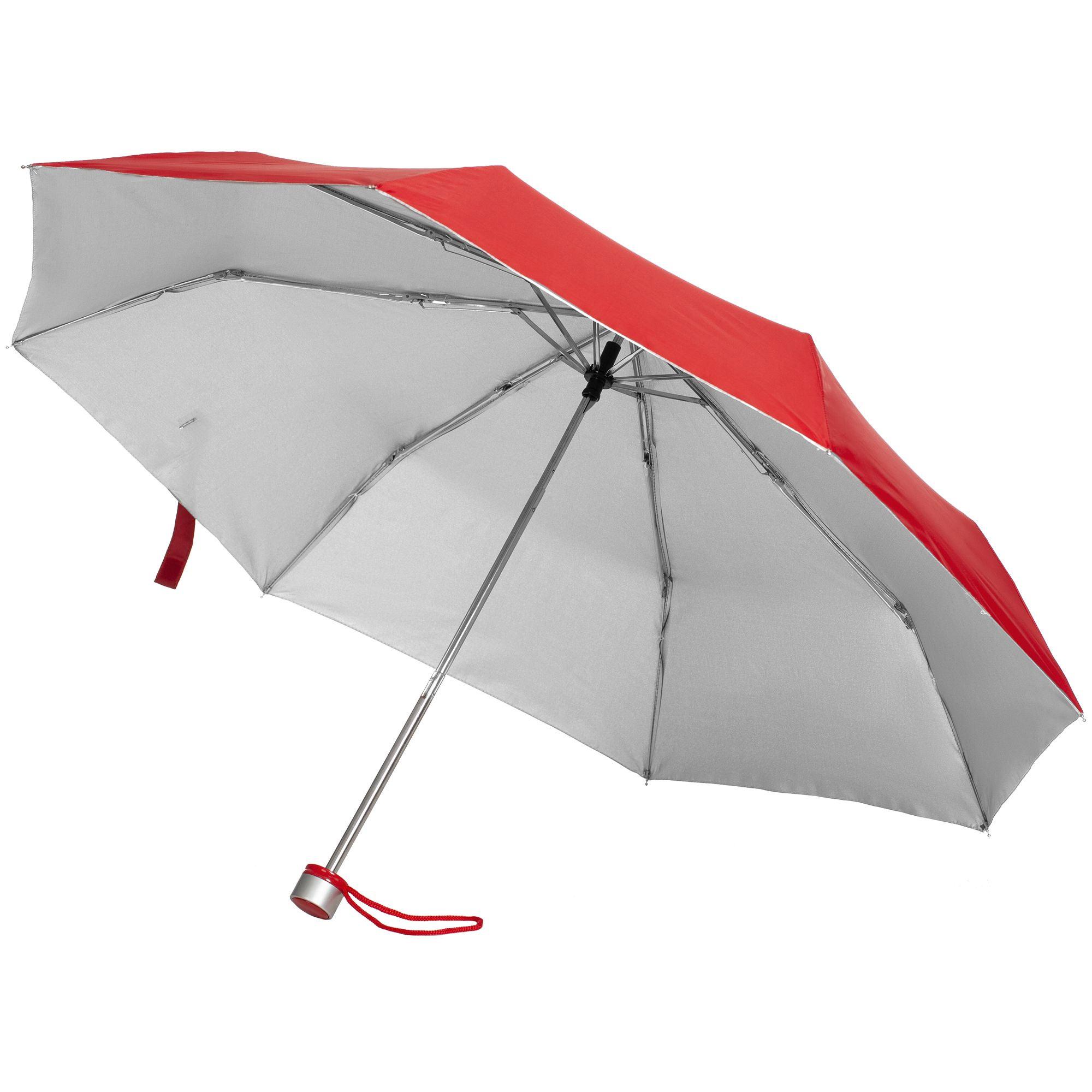 Зонт складной Silverlake с серебристой внутренней стороной