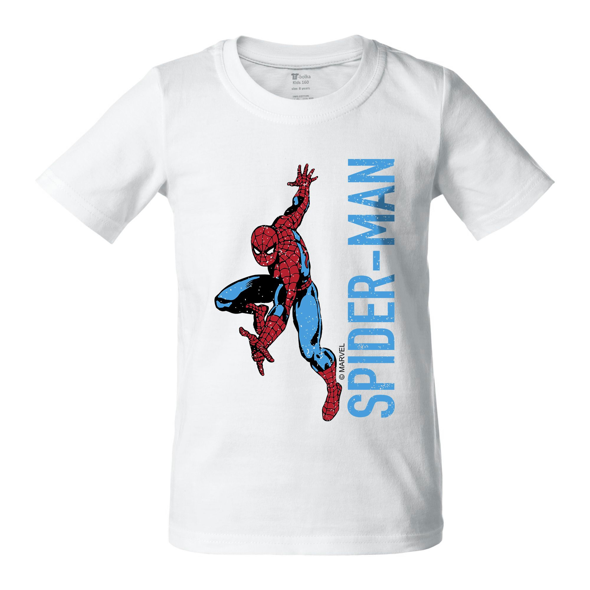 Футболка детская Spider-Man, белая арт 55582.61