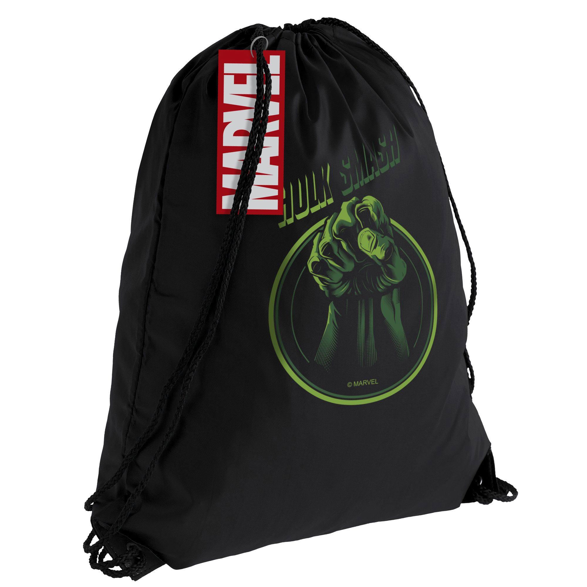 Рюкзак / мешок для сменки Hulk Smash, черный арт55520.30