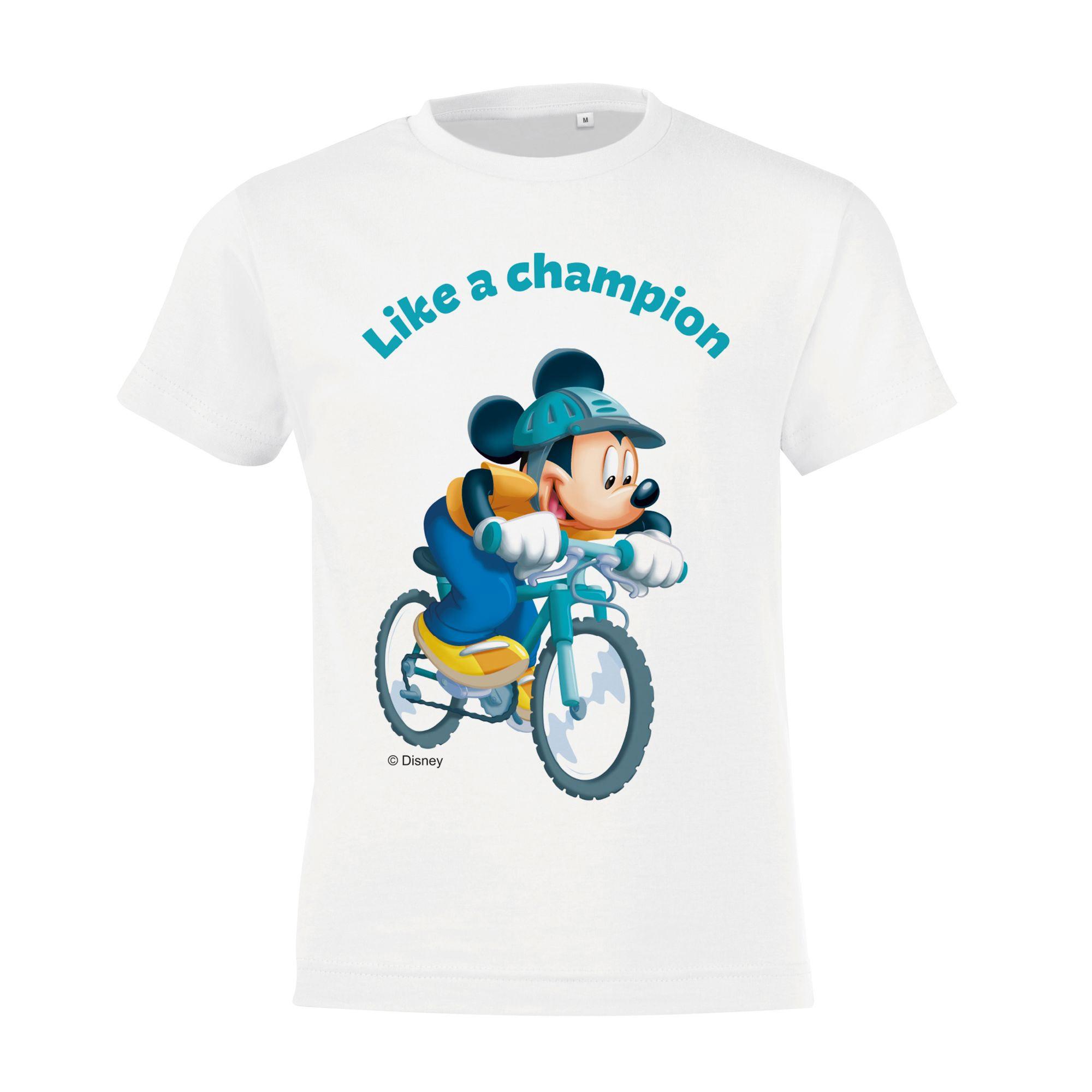 Футболка детская «Микки Маус. Like A Сhampion!», белая арт 55532.62