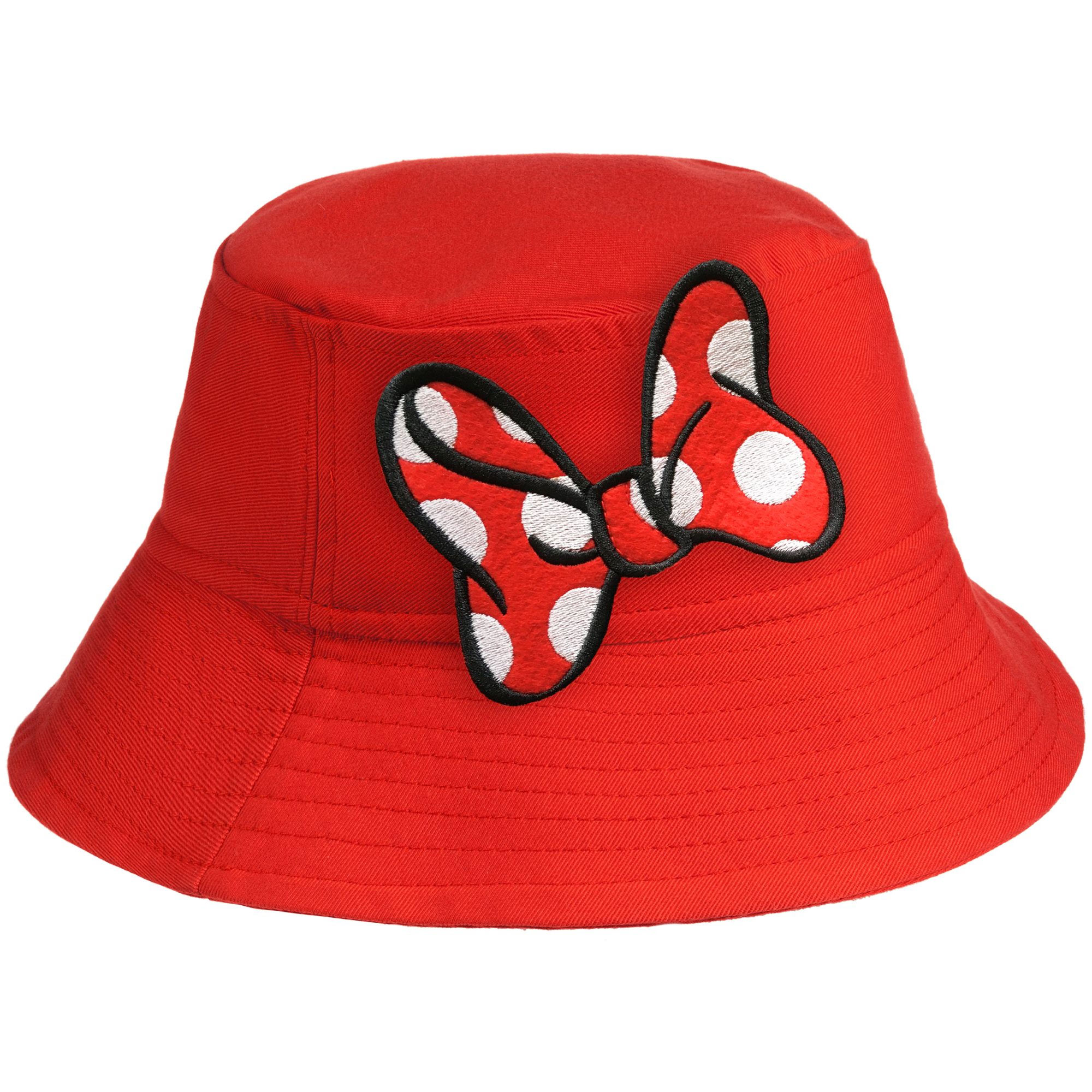 Панама детская «Бант Минни Маус», красная арт 55536.50