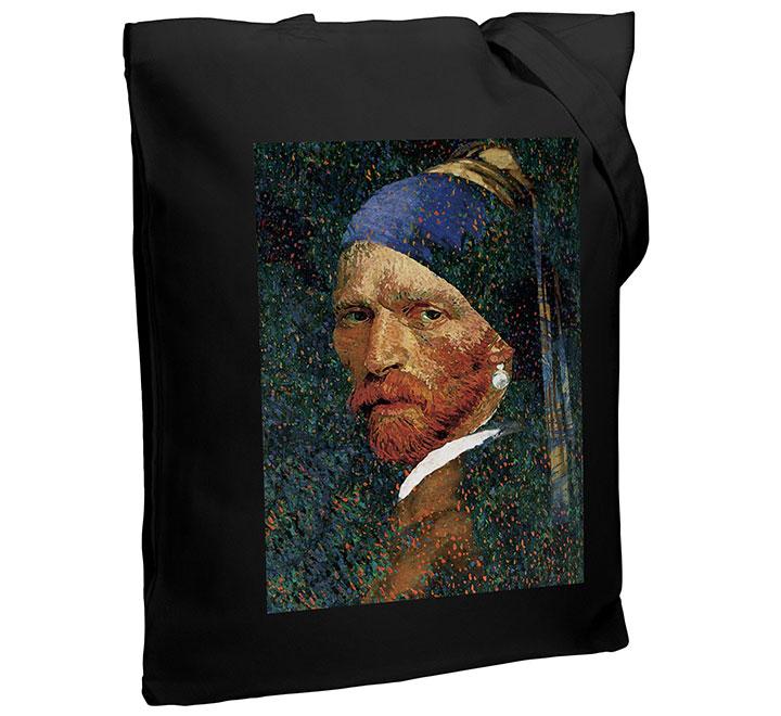 Холщовая сумка «Мужчина с жемчужной сережкой» арт 70941.30