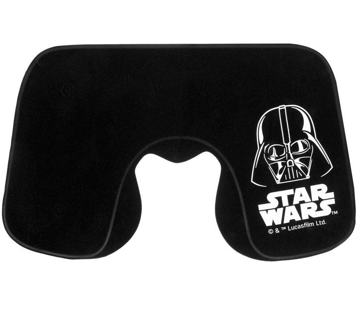 Надувная подушка под шею Darth Vader в чехле, черная