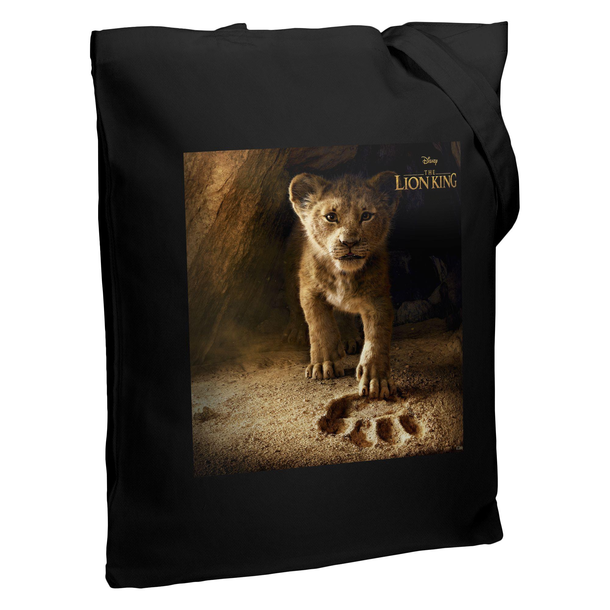 Холщовая сумка Lion King Footprint, черная