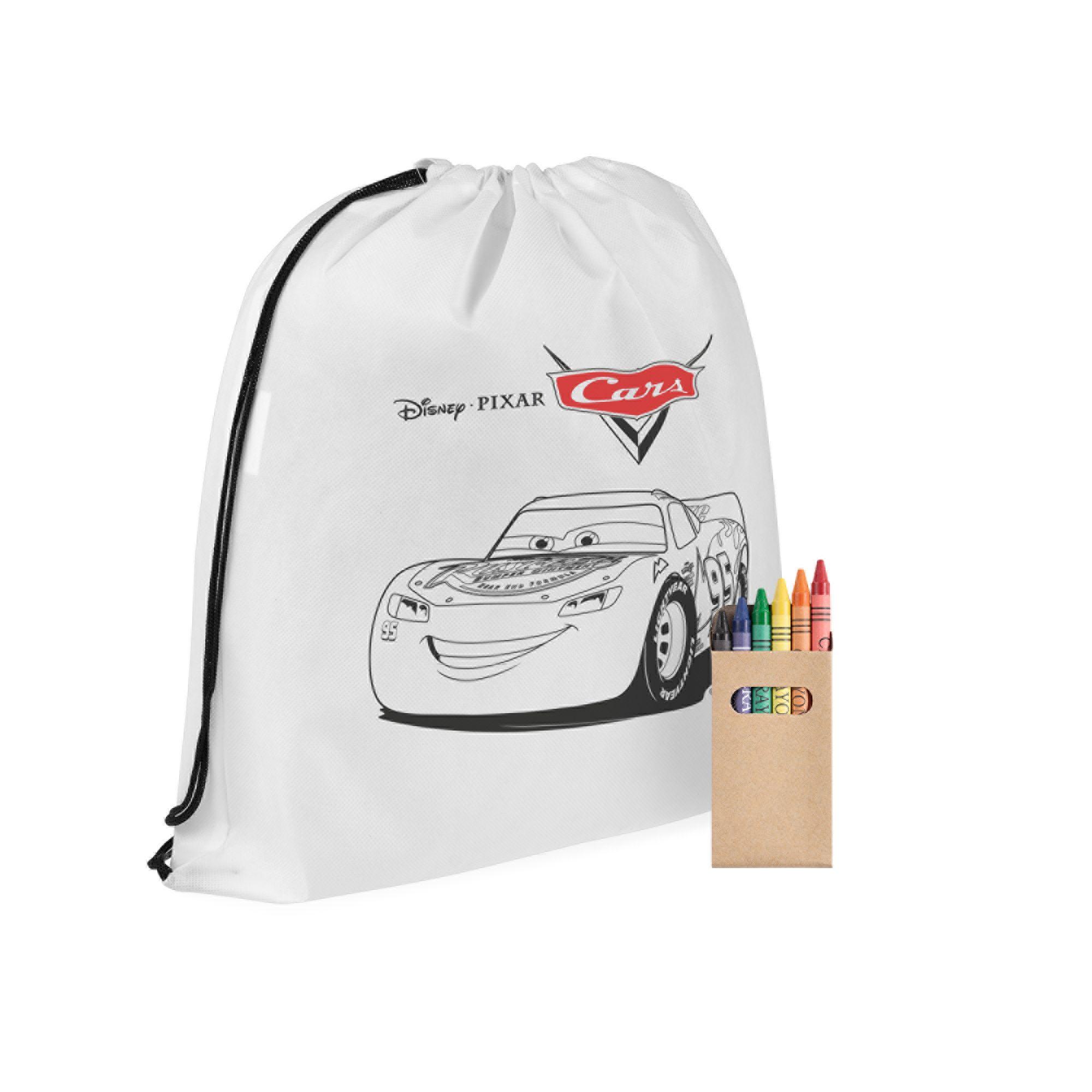 Рюкзак-раскраска с мелками «Молния МакКуин», белый
