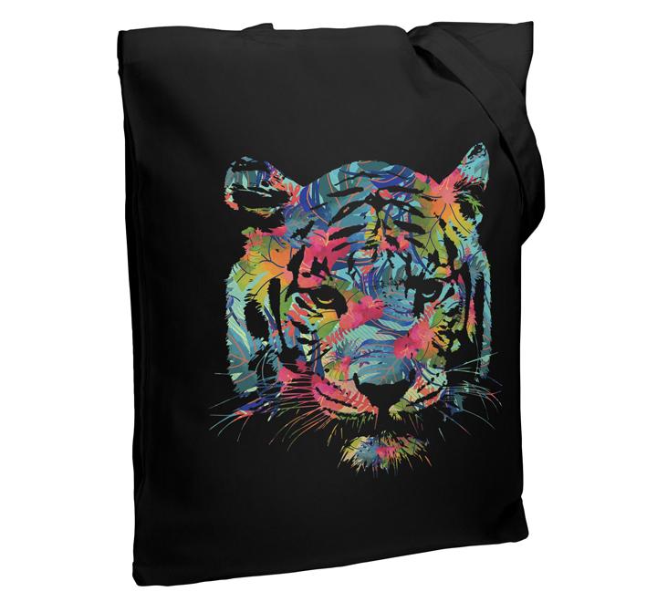 Холщовая сумка Jungle Look, черная