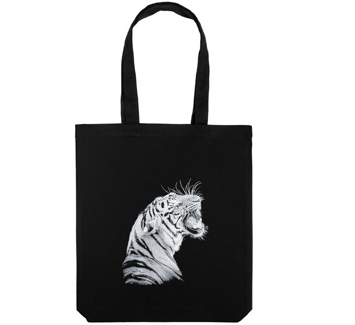 Холщовая сумка Like a Tiger, черная