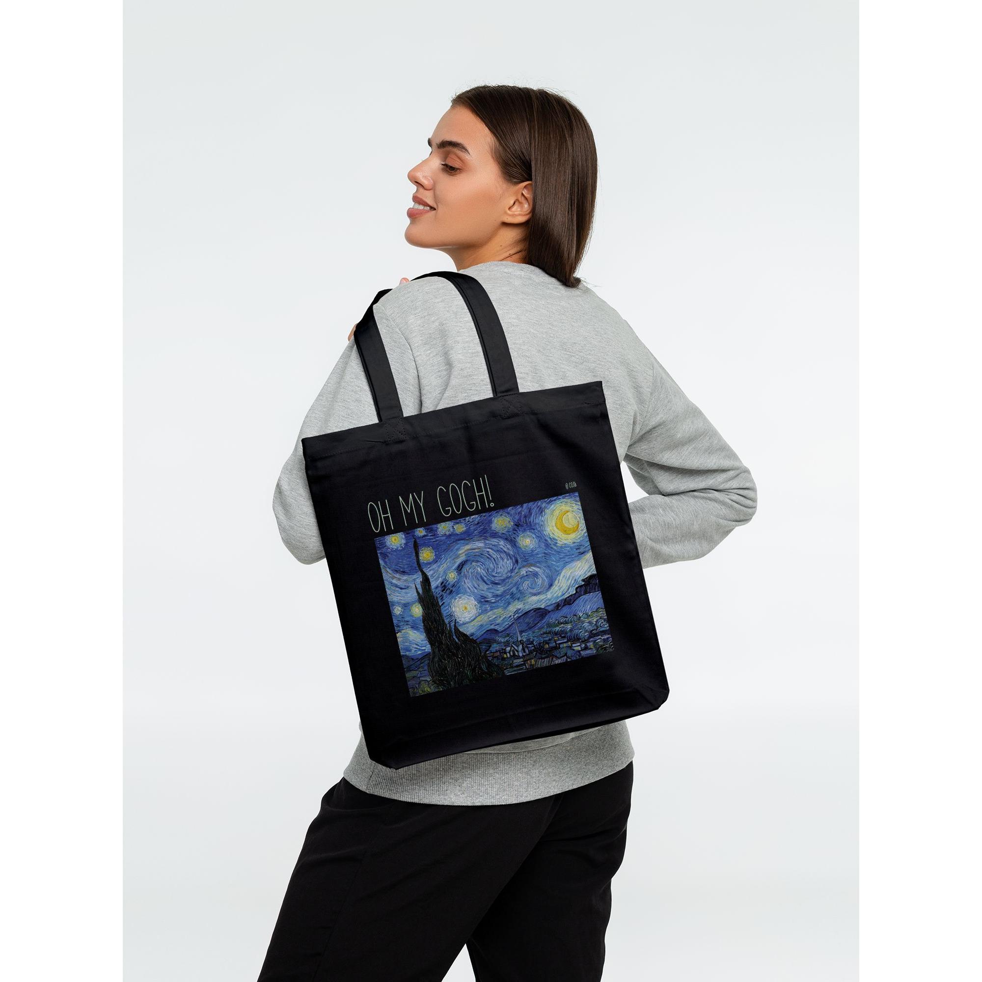 Холщовая сумка «Oh my Gogh!», черная фото 0