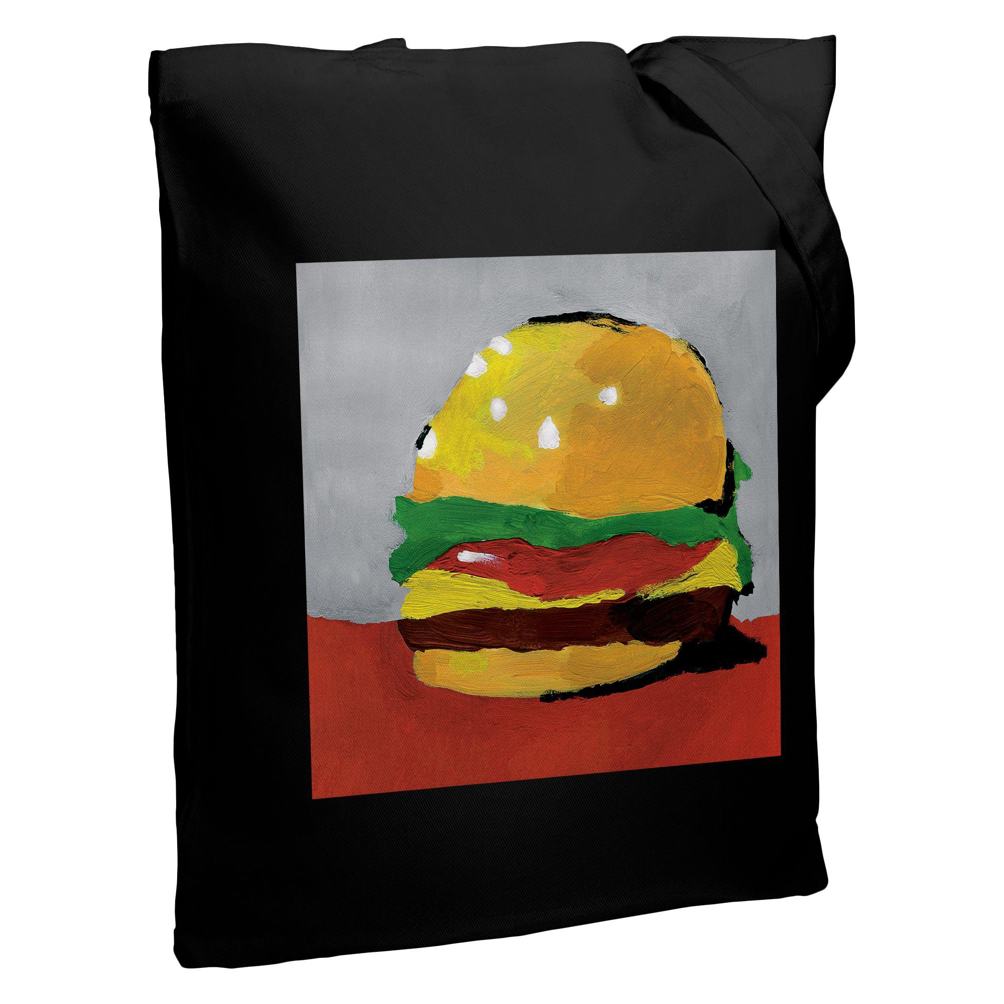 Холщовая сумка «Гамбургер», черная