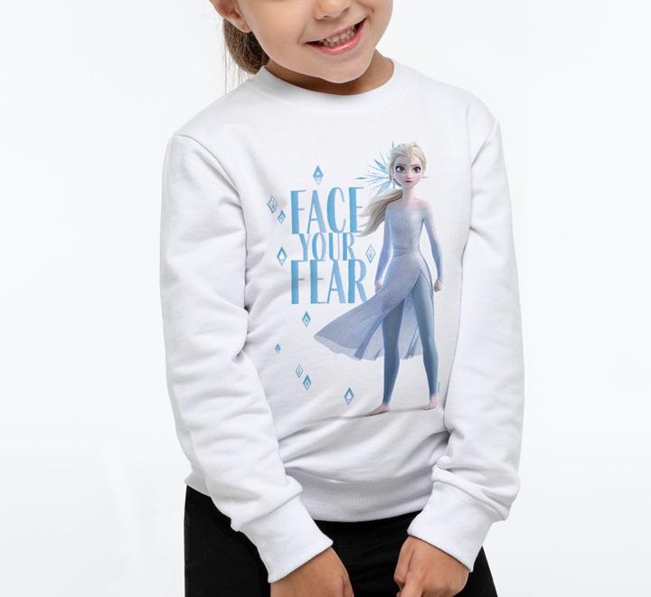 Свитшот детский Face Your Fear, белый