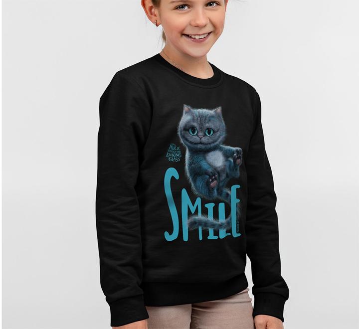 Свитшот детский Smile, черный