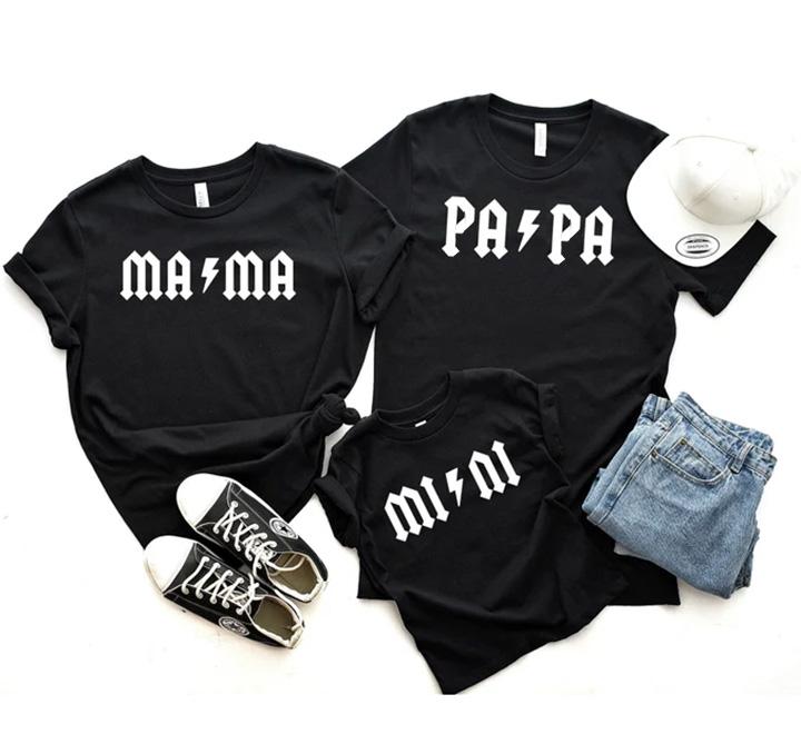 """Семейные футболки для троих """"Rock"""""""