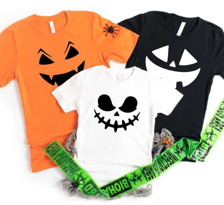 Семейные футболки на хэллоуин Тыквы - 2