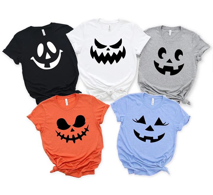 Большой комплект футболок на Хэллоуин, унисекс