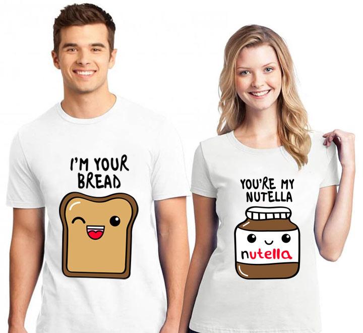 """Парные футболки """"Хлеб с Нутеллой"""""""