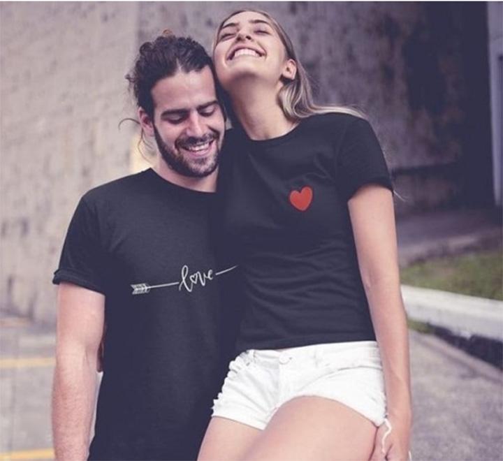 """Парные футболки для влюбленных """"Стрела и сердце"""""""