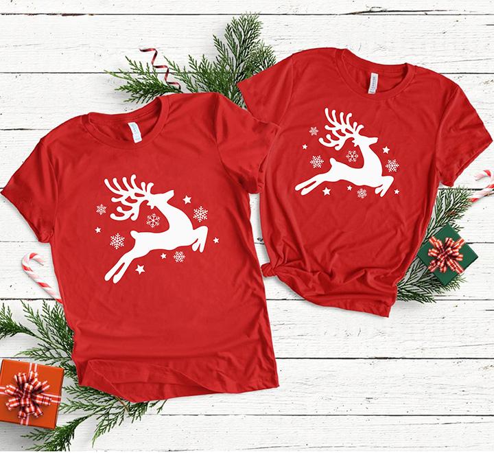 Парные футболки с оленями